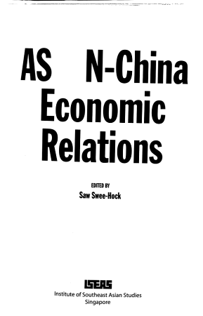 ASEAN China Economic Relations PDF