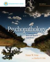 Brooks Cole Empowerment Series  Psychopathology  A Competency Based Assessment Model for Social Workers PDF