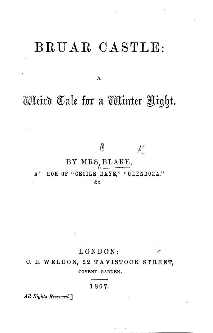 Bruar Castle: a weird tale for a winter night