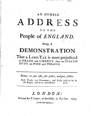 An Humble Address to the People of England
