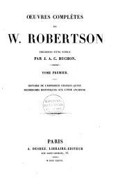Oeuvres complètes de W. Robertson: Volume1