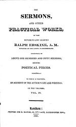 The Sermons and other practical works of R. E., ... besides his poetical pieces. To which is prefixed, a short account of the author's life and writings by J. Fisher. Edited by J. Newlands