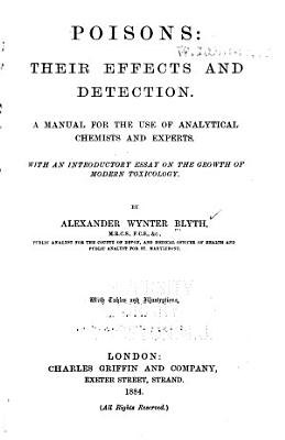 Poisons  Their Effects and Detection PDF