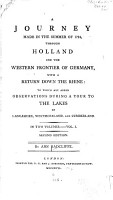 A Journey Made in the Summer of 1794 Through Holland and the Western Frontier of Germany PDF