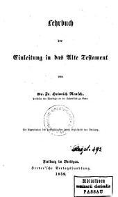 Lehrbuch der Einleitung in das Alte Testament