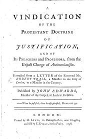 A Vindication of the Protestant Doctrine concerning Justification ... The second edition