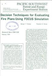 Decision techniques for evaluating fire plans using FOCUS simulation
