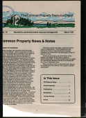 The Common Property Resource Digest