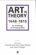 Art in Theory 1648 1815 PDF