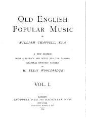 Old English popular music: Volume 1