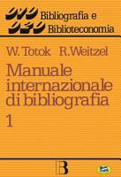 Manuale internazionale di bibliografia PDF
