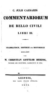 Commentarii de bello civili: Libri III