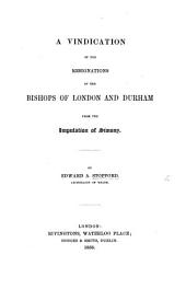 A Vindication of the resignations of the Bishops of London and Durham from the imputation of simony
