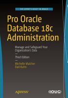 Pro Oracle Database 18c Administration PDF