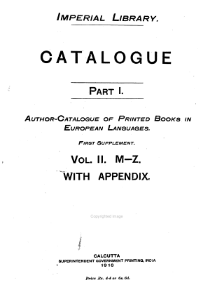 Author catalogue of printed books in European languages  With a supplementary list of newspapers  1904  2 v PDF