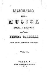 Dizionario della musica sacra e profana: Volume 4