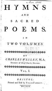 Hymns and Sacred Poems: In Two Volumes, Volume 1