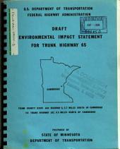 TH-65, Cambridge Bypass Construction, Isanti County: Environmental Impact Statement