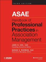 ASAE Handbook of Professional Practices in Association Management PDF