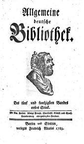 Allgemeine deutsche Bibliothek: Band 55