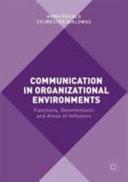 Communication in Organizational Environments