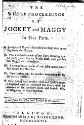 A Dialogue of Courtship between Jockey and Maggy, etc. A chapbook