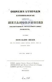 Observationes entomologicae continentes metamorphoses celeopterorum nonnullorum adhuc incognitas
