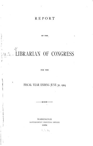 Download Annual Report of the Librarian of Congress Book