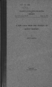 A New Cony from the Vicinity of Mount Whitney: Volume 10