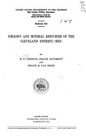 Geology and Mineral Resources of the Cleveland District  Ohio PDF
