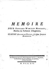 Mémoire pour E. W. Montagu ... contre Abraham Payba, se disant Jacques Roberts