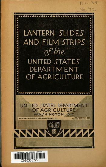 Lantern Slides and Film Strips of the United States Department of Agriculture PDF