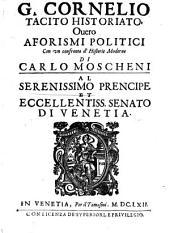 C. Cornelio Tacito ... Aforismi politici