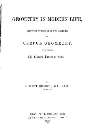 Geometry in Modern Life PDF