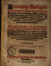 Andächtige Außlegungen unnd schöne Lehrstück uber vier Heyliger Evangelien, de tempore ...
