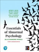 Essentials of Abnormal Psychology  Fourth Canadian Edition Book