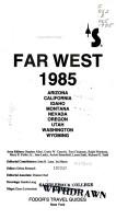Fd Far West 1985 PDF
