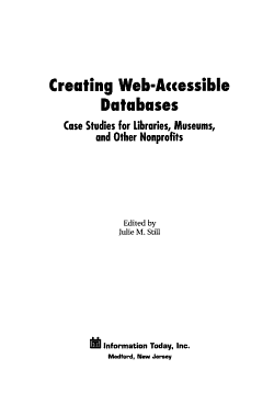 Creating Web accessible Databases PDF