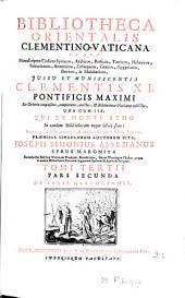 Bibliotheca orientalis Clementino-Vaticana