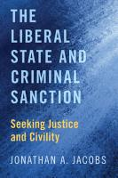 The Liberal State and Criminal Sanction PDF