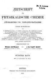 Zeitschrift für physikalische Chemie: Band 5