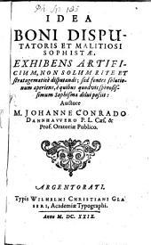 Idea boni disputatis et malitiosi Sophistae