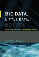 Big Data  Little Data  No Data PDF