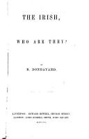 The Irish  who are They      PDF