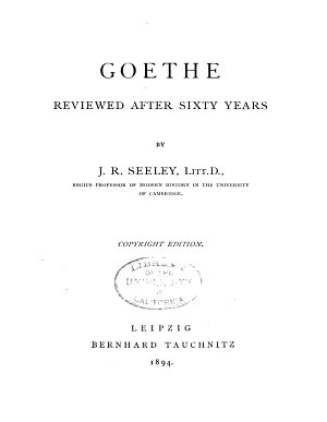 Goethe Reviewed After Sixty Years