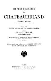 Le congrès de Vérone. Guerre d'Espagne. Table générale et analytique