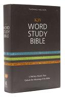 KJV  Word Study Bible  Hardcover  Red Letter Edition PDF