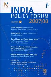 India Policy Forum 2007-08