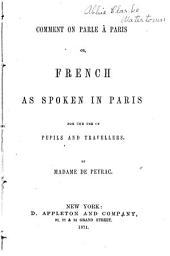 Comment on Parle À Paris; Or, French as Spoken in Paris