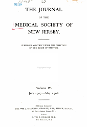 Journal of the Medical Society of New Jersey: Volume 4